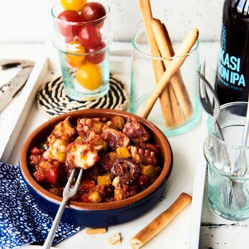 Poulpe en marinade basque