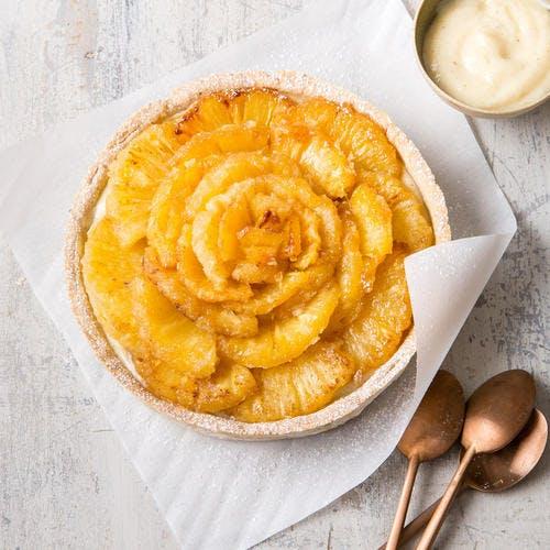 Tarte tourbillon ananas-vanille