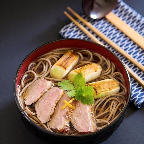 Recette japonaise de soupe soba au canard