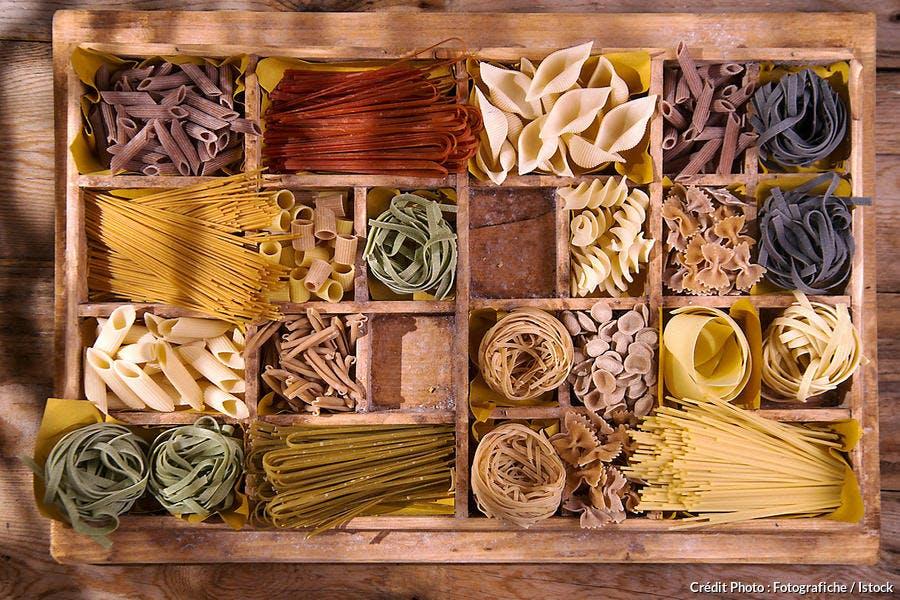 Variétés de pâtes sèches italiennes