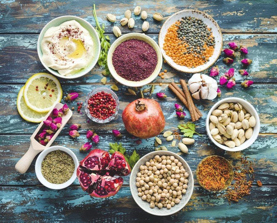 Aliments, ingrédients d'orient