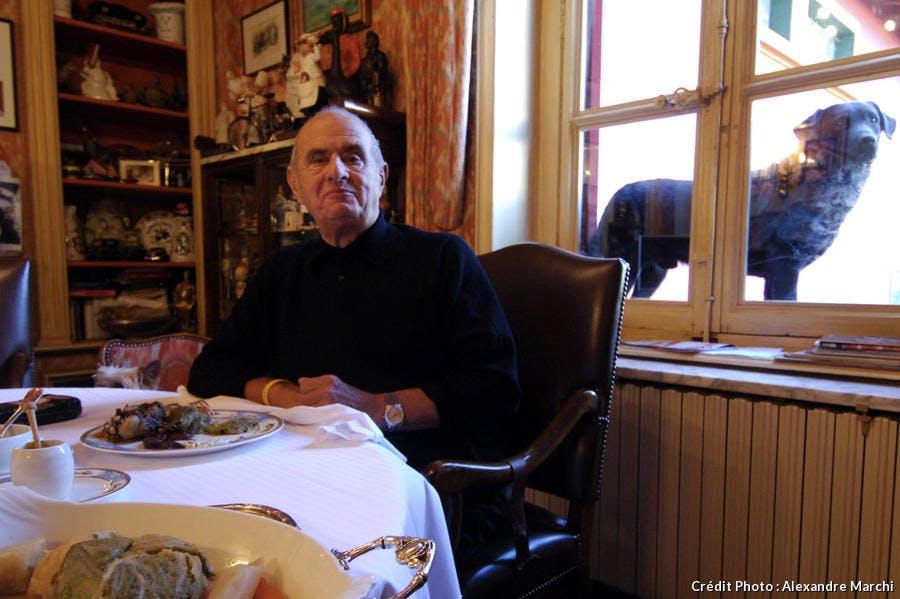 Paul Bocuse, chez lui à Collonges au Mont d'Or