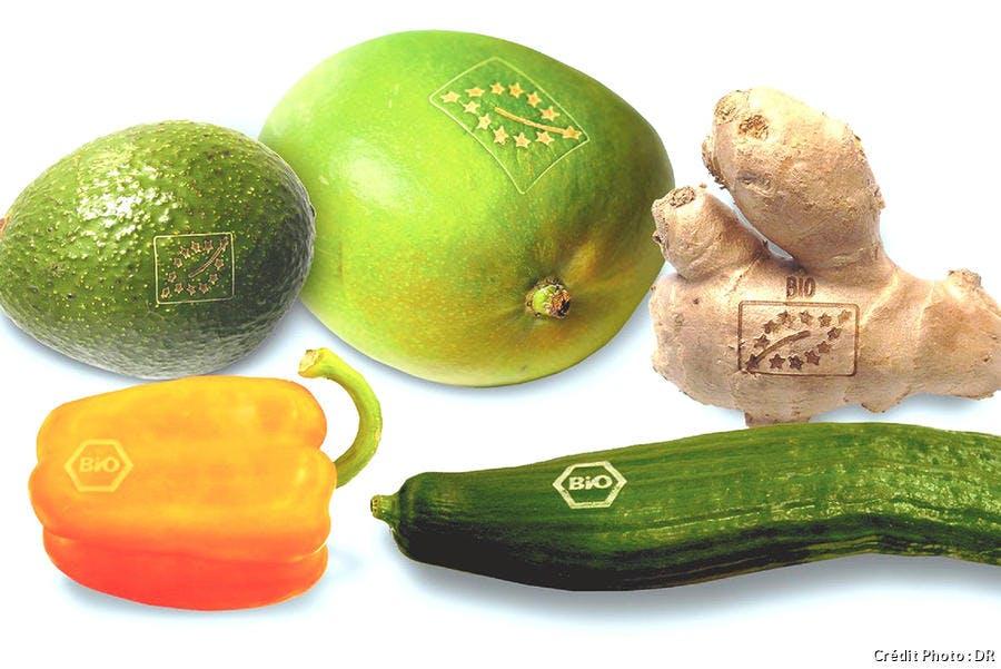 légumes marqués au laser