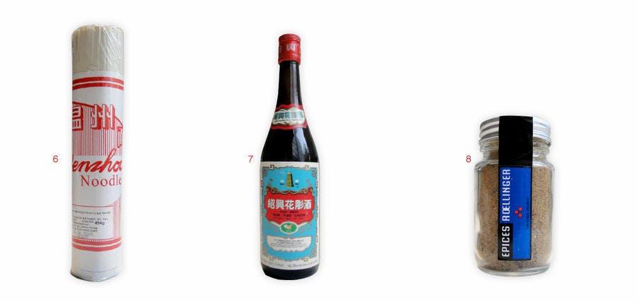 Différents produits d'épicerie chinoise