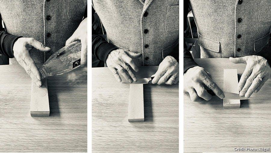 Pas à pas : comment aiguiser un couteau avec une pierre