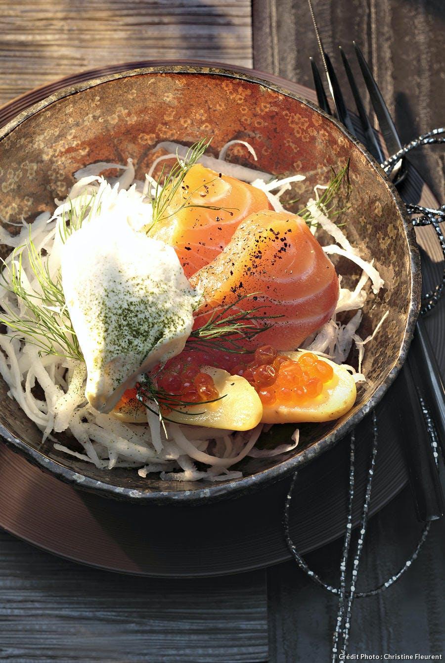 Saumon frais mariné