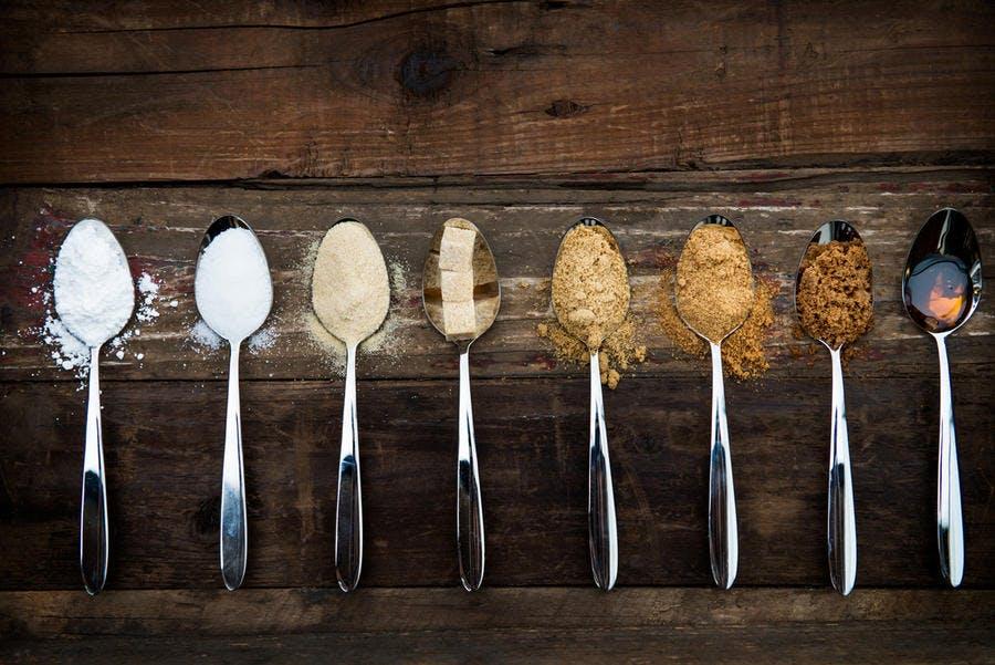 Différents sucres, plus ou moins raffinés