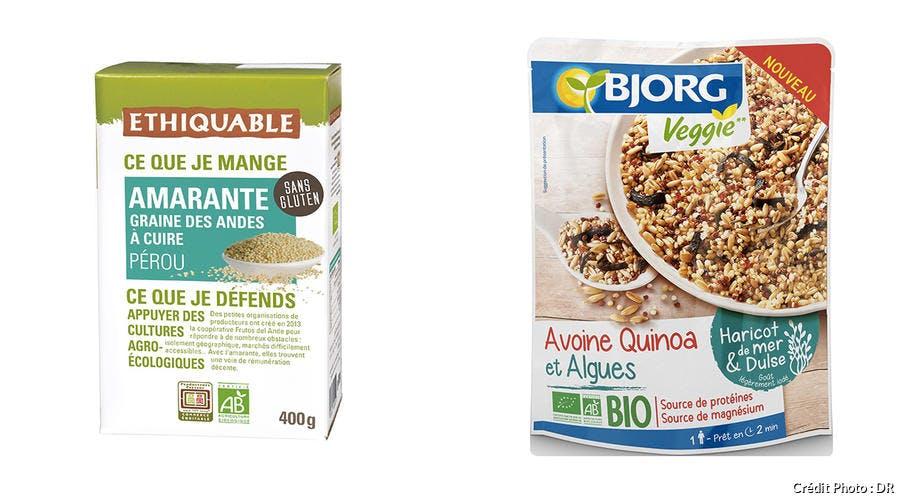 Graines d'amarante du Pérou bio - Avoine, quinoa et algues bio