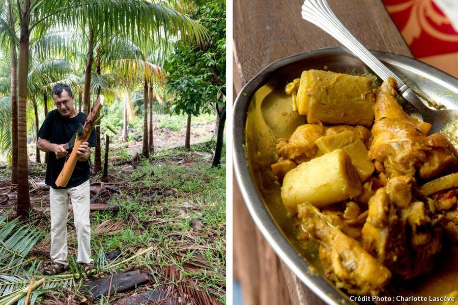 Cari de chou palmiste de l'auberge du Palmier