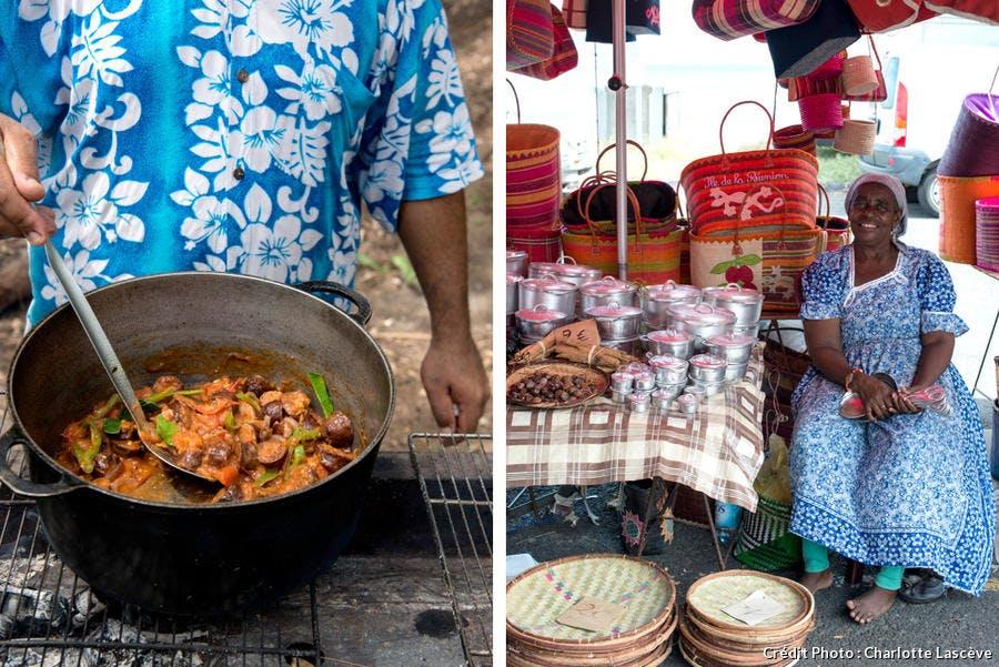 Marmites du marché de Saint-Paul