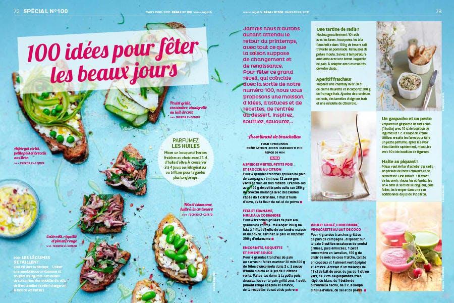 Magazine Régal n° 100 / 100 idées pour accueillir le printemps