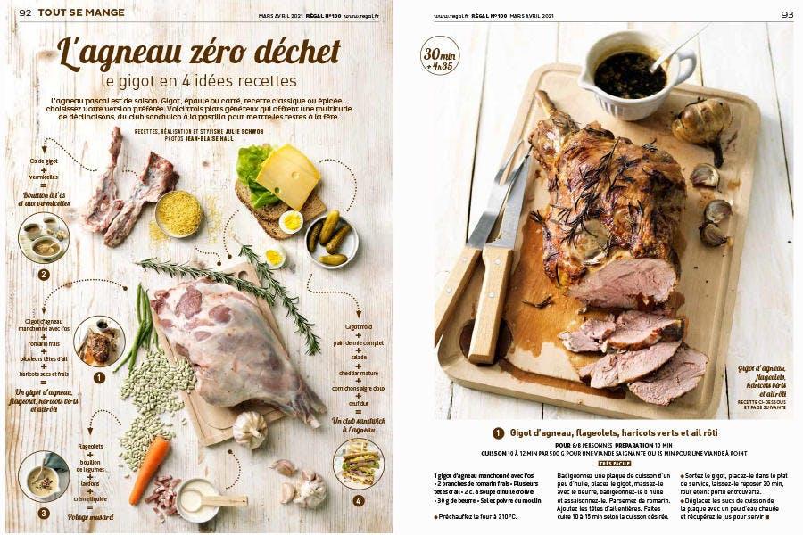 Magazine Régal n° 100 / L'agneau zéro déchet