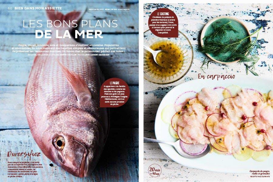 Magazine Régal n° 100 / Les bons plans de la mer