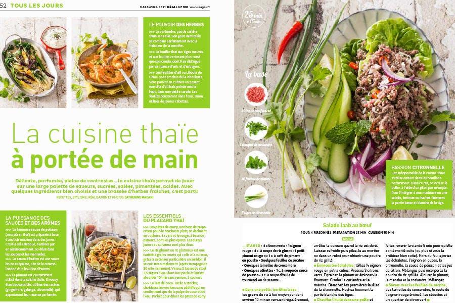 Magazine Régal n° 100 / Cuisine thaïe s'invite à la maison