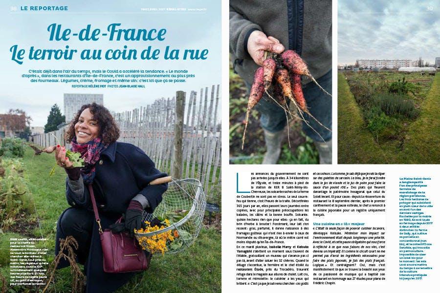 Régal n°100 Reportage Ile de France