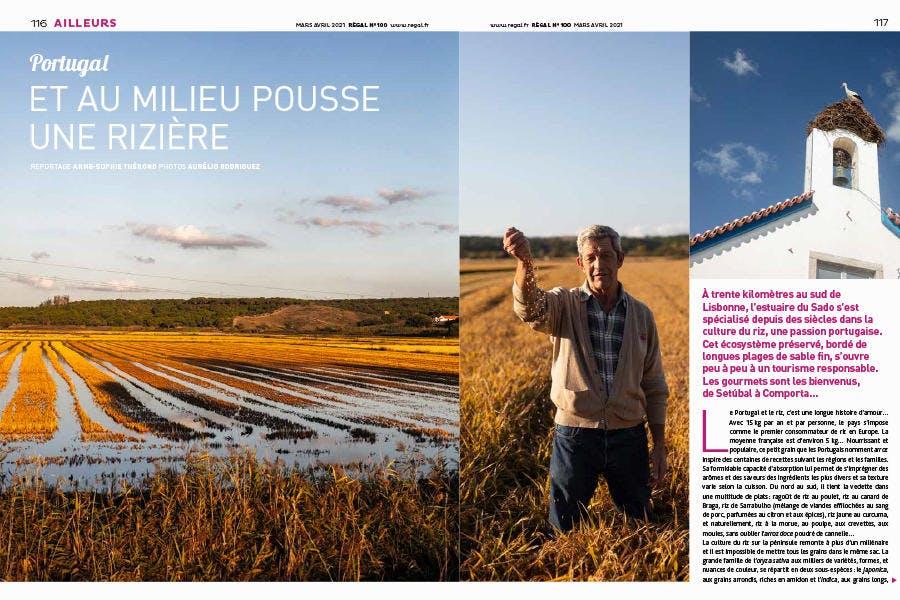 Magazine Régal n° 100 / Les rizières du Portugal