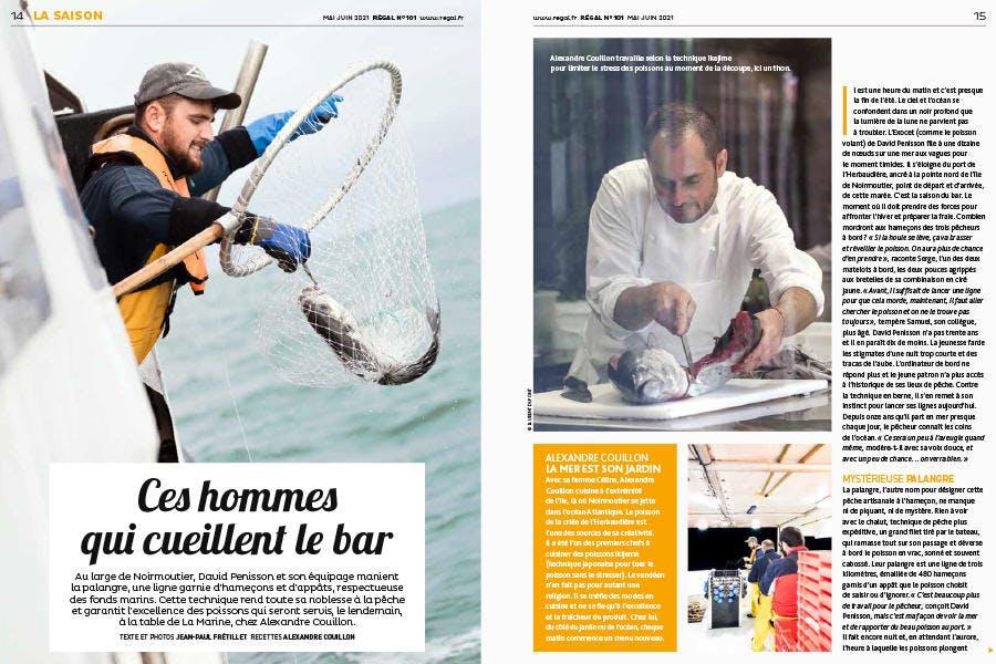 Régal n° 101 pages extraites du magazine - sujet pêche au bar