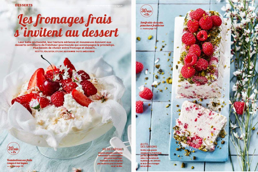 Régal n° 101 pages extraites du magazine - sujet Fromage frais