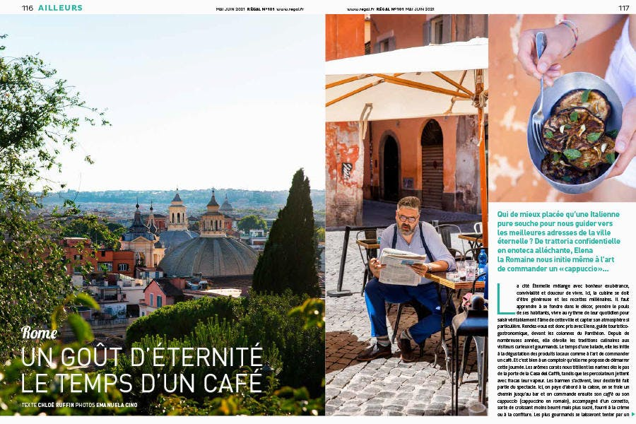 Régal n° 101 pages extraites du magazine - sujet Rome