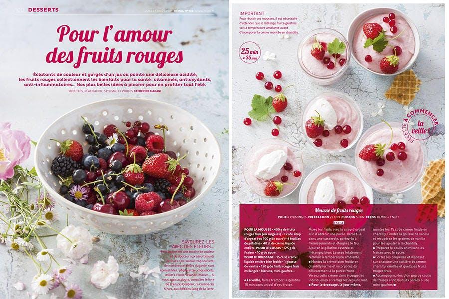 Recettes de desserts à base de fruits rouges