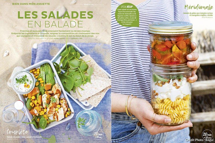 Recettes de salades et bento faciles à emporter