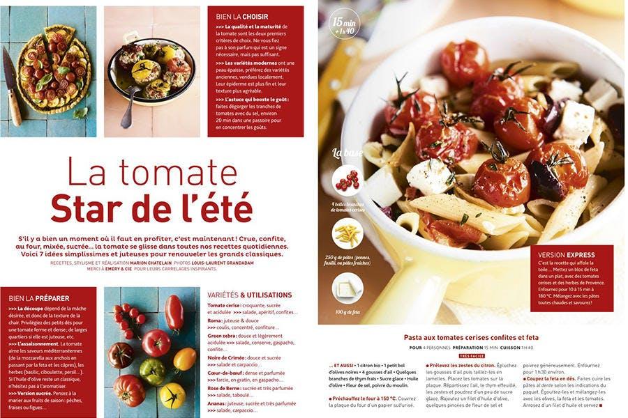 Nos recettes à base de tomate
