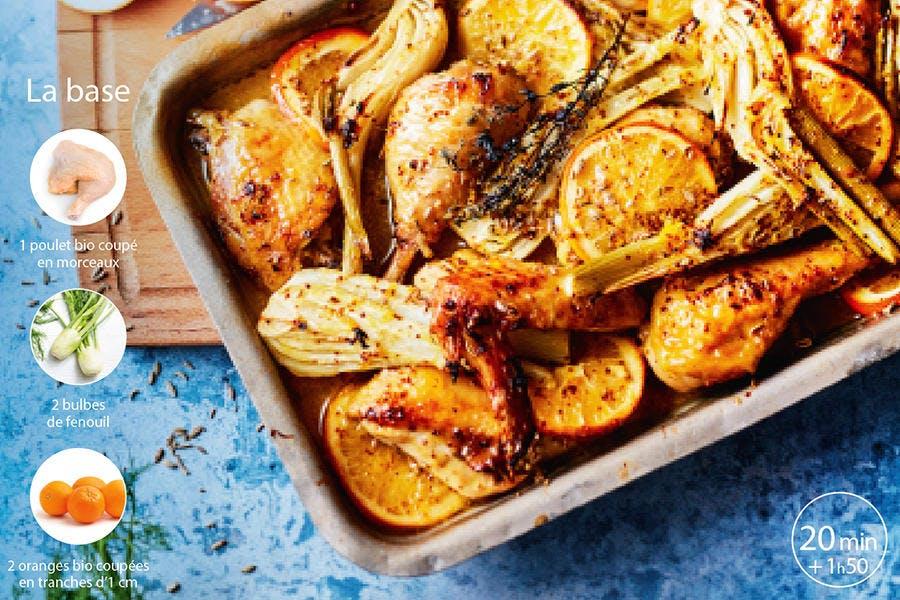 recette poulet et agrume