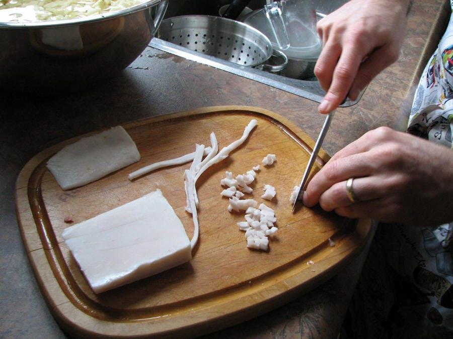 Préparation du saindoux