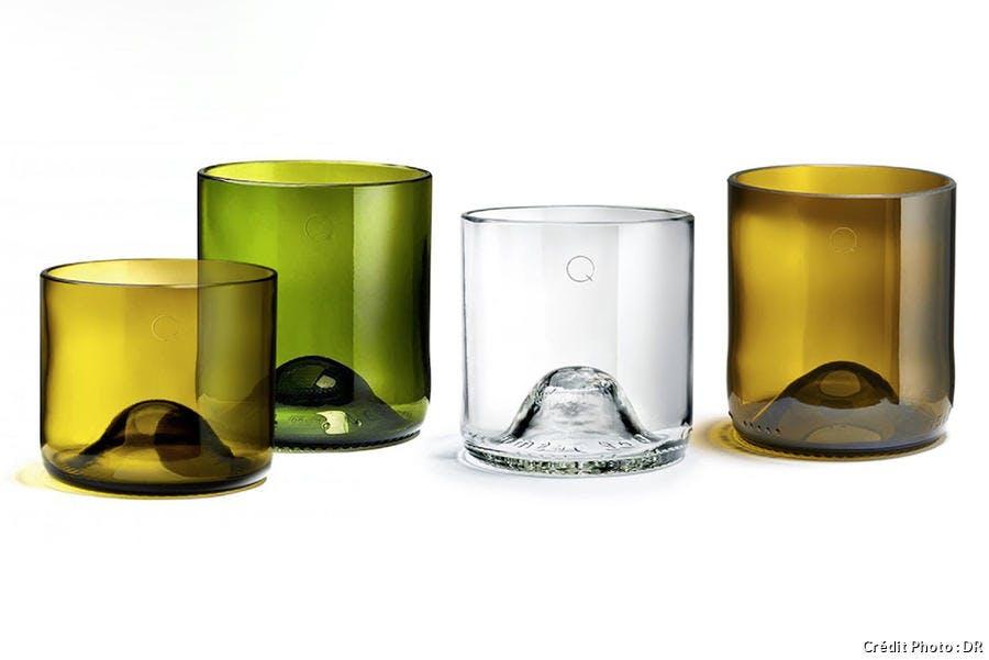 verre en forme de cul de bouteille