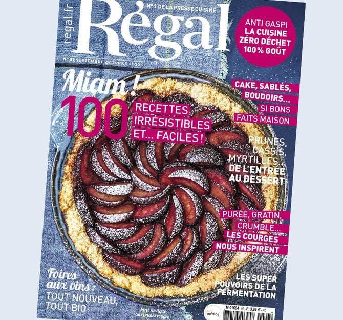 Couverture magazine Régal n° 97 septembre-octobre 2020