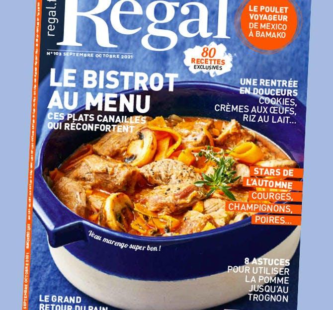 Magazine Régal couverture n°103 septembre-octobre 2021