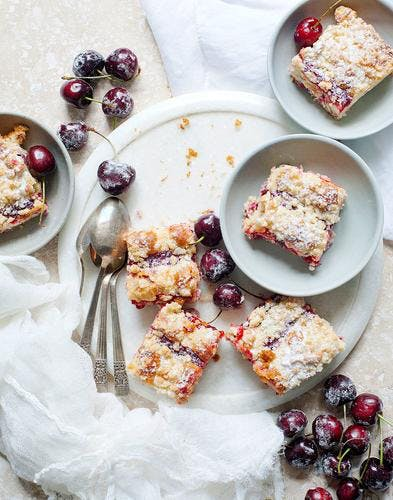 Gâteau aux cerises façon streusel