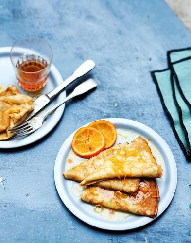 Crêpes suzette à l'orange