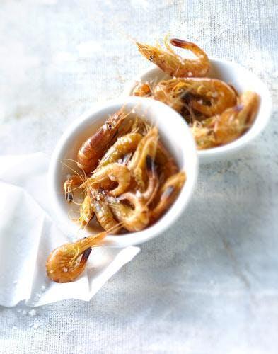 Crevettes grises flambées