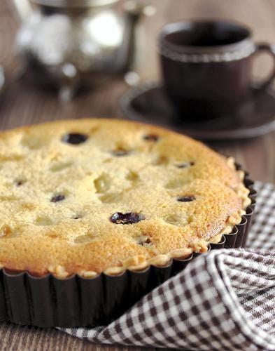 Gâteau de semoule aux raisins
