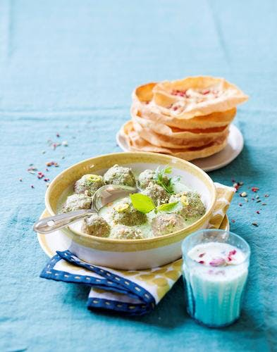 Curry vert de boulettes d'agneau