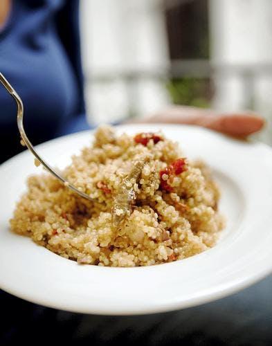 Risotto de quinoa aux tomates séchées