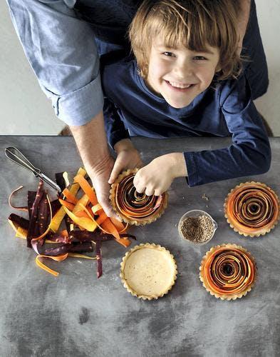 Tartelettes spirales aux carottes
