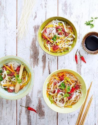Soupe thaï aux nouilles de riz