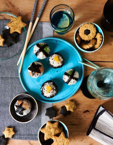 Rice balls (onigiri) de Noël