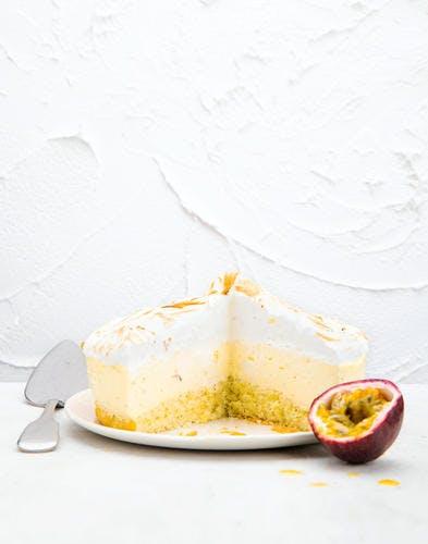 Gâteau nuage passion et citron vert