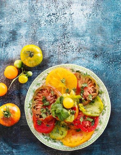 Carpaccio de tomates anciennes