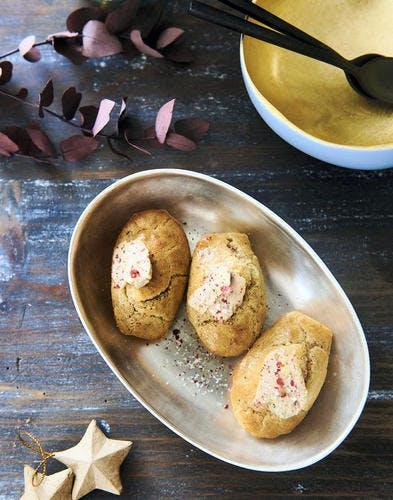 Madeleines salées pour l'apéro, au foie gras et magret