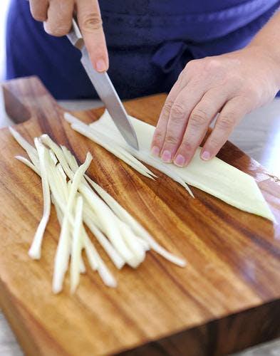 Spaghettis de blettes alla puttanesca