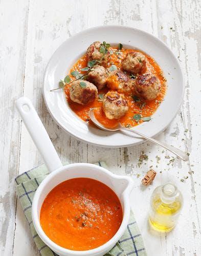 Boulettes de veau à la sauce tomate
