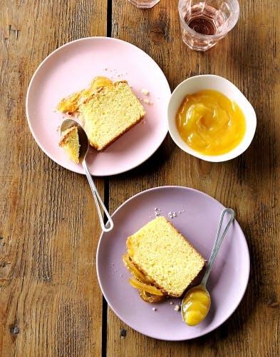 Cake aux écorces et zestes de citron confit