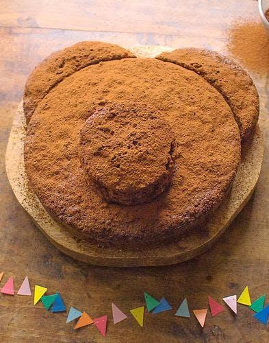 Gâteau ourson au yaourt, banane et chocolat