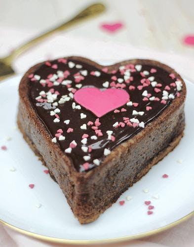 Moelleux au chocolat des amoureux