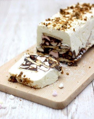 Gâteau sans cuisson marshmallow et chocolat