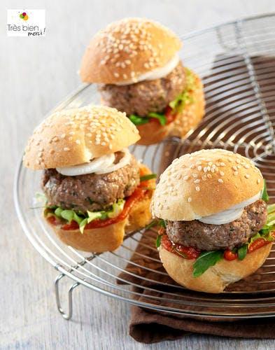 Mini burger oriental